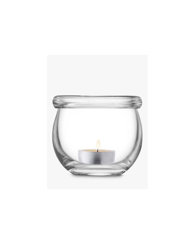 Collar Tealight Holder H8cm Clear