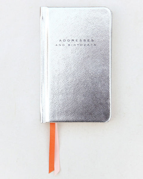 Silver Metallic Handbag Address Book - shopatstocks