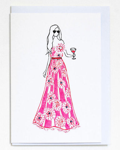 Pink Ballgown Card - shopatstocks