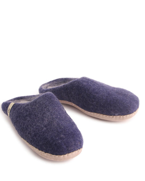 Egos Wool Slippers - Blue - shopatstocks