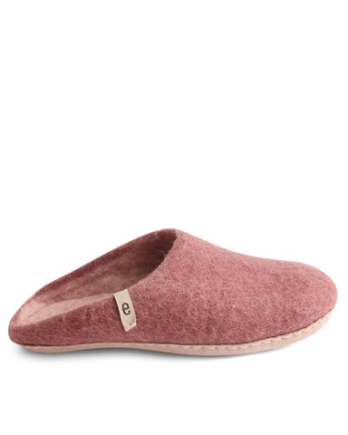 Egos Wool Slippers - Dusty Rose