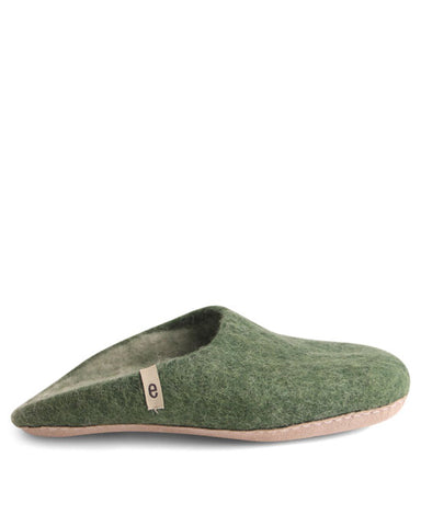Egos Wool Slippers - Green