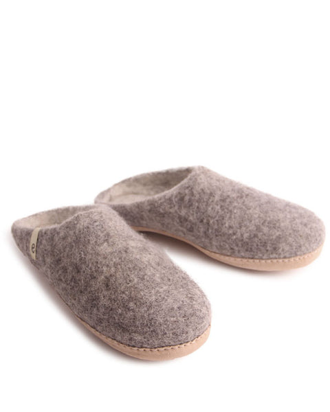 Egos Wool Slippers - Natural Grey