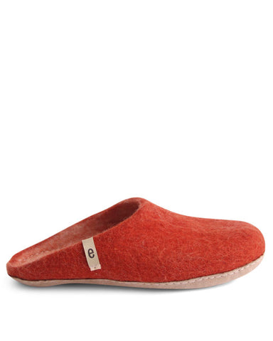 Egos Wool Slippers - Rusty Red