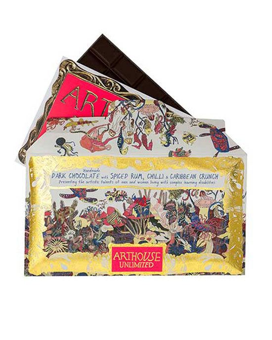 Chocolate Bar 'Angels of The Deep' Dark Chocolate with Spiced Rum, Chilli & Caribbean Crunch - shopatstocks