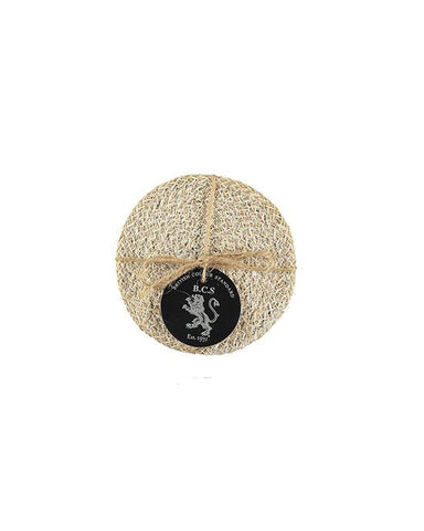 Jute Coasters in Pearl White/Natural, Tied Set of 4