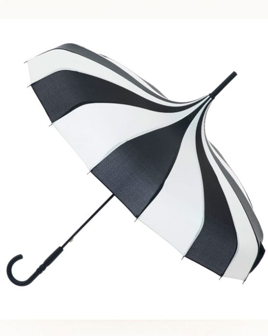 Classic Pagoda Umbrella Black/Cream