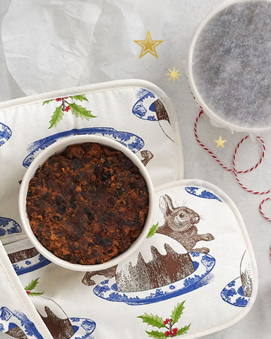 Double Oven Glove - Christmas Pudding