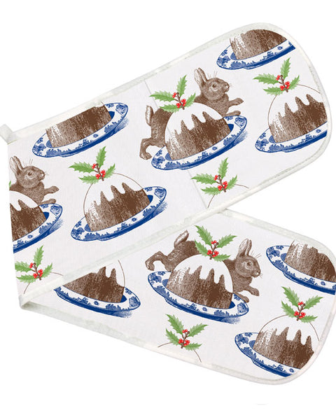 Double Oven Glove - Christmas Pudding - shopatstocks