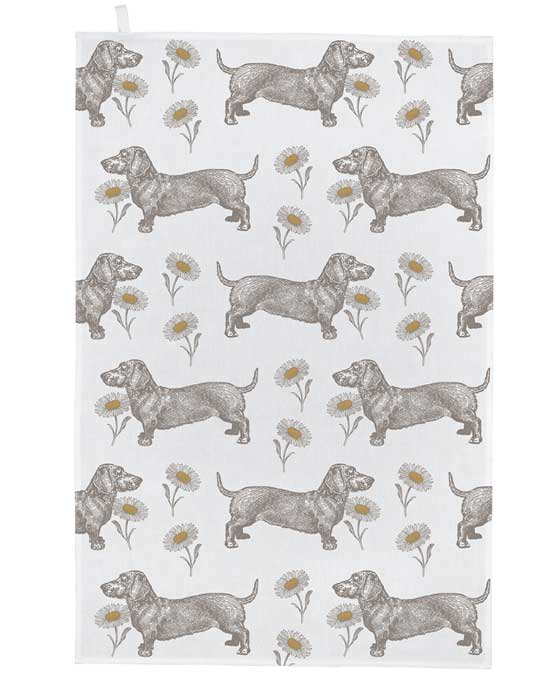 Tea Towel - Dog & Daisy - shopatstocks