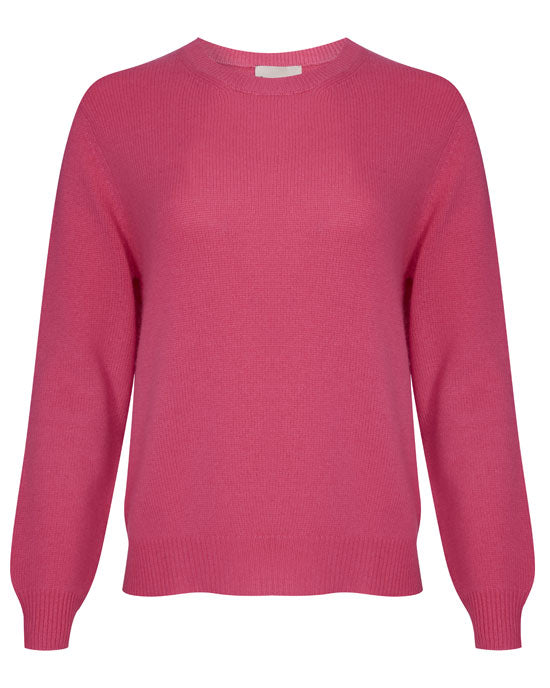 Elbow Patch Crew Pink