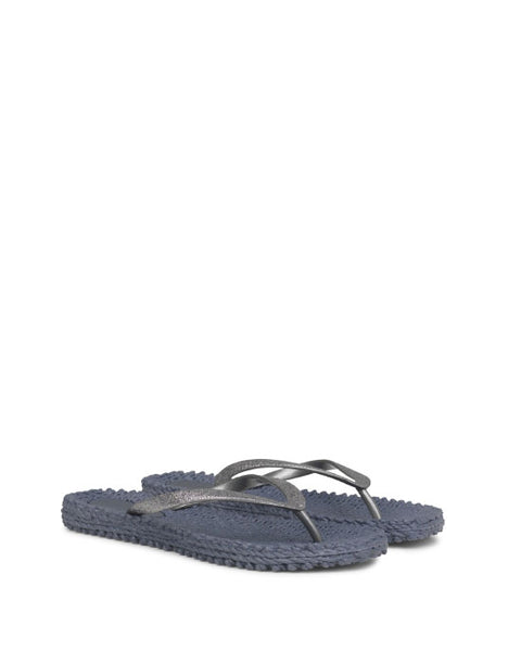 Glitter Flip Flops Grey - shopatstocks