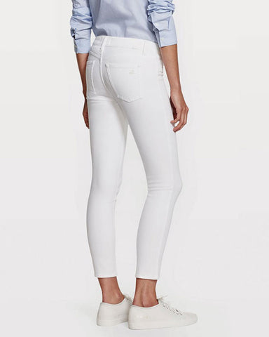 FLORENCE CROP MID RISE SKINNY, WHITE