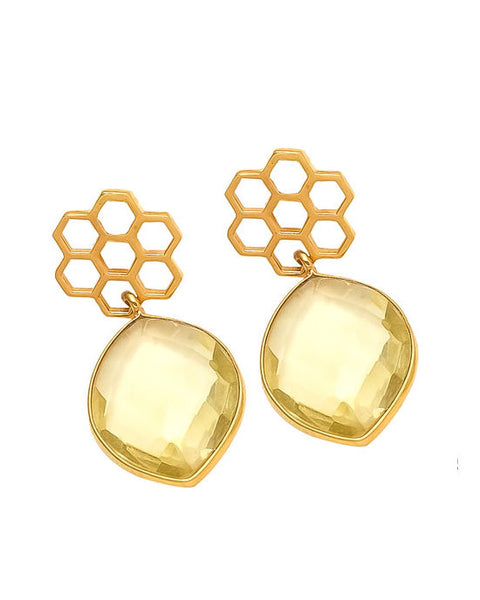 Shyla Earrings - HONEYCOMB