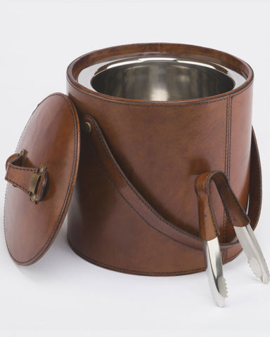 Leather Ice Bucket - Tan