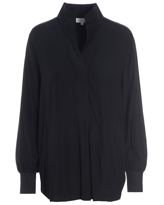 Kate Silk Tunic Black