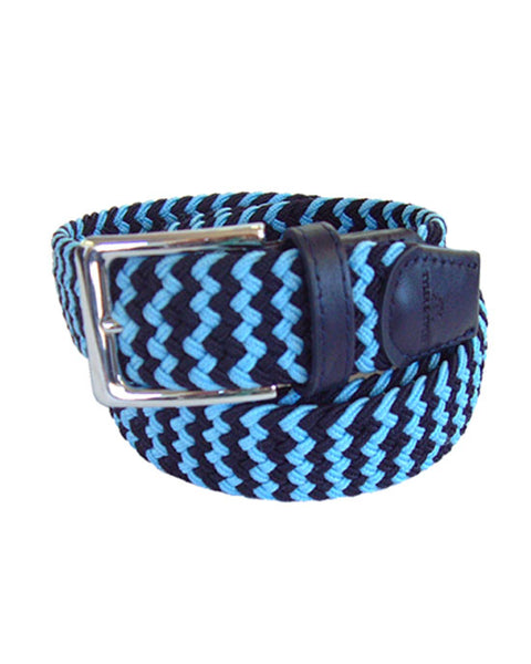 navy/light blue zig zag belt M/L