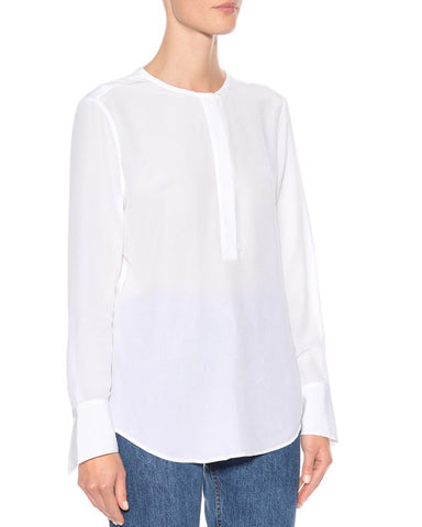 MABEL silk shirt, white