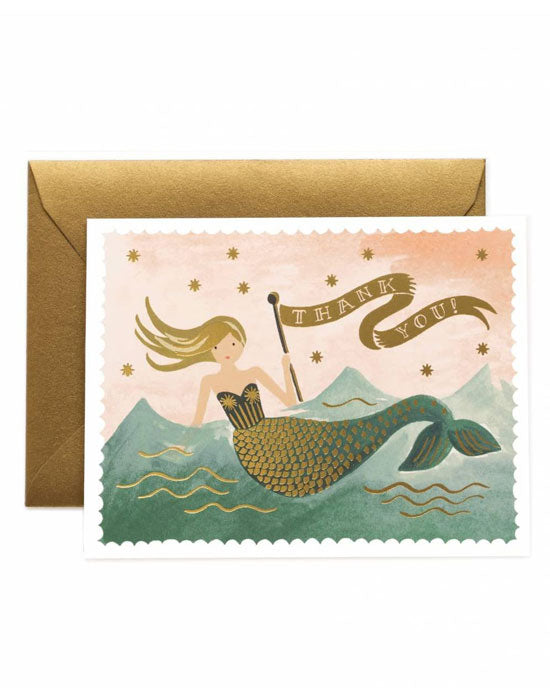 MERMAID THANK YOU BOX (8 cards & envelopes) - shopatstocks