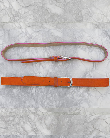 Orange Belt w Pink Edge