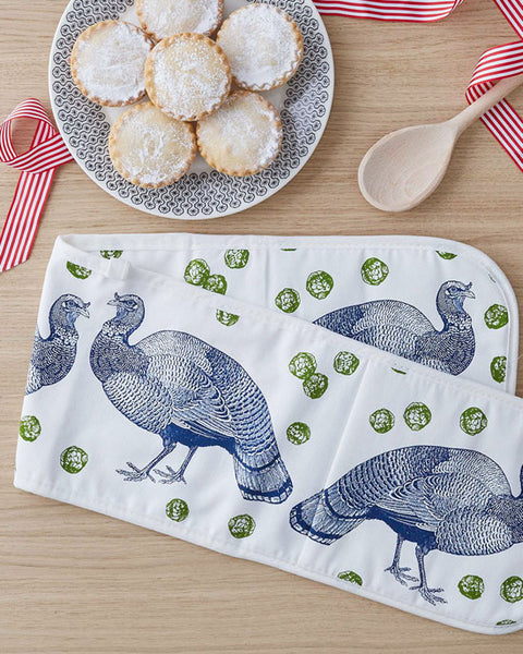 Double Oven glove - Turkey & Sprout