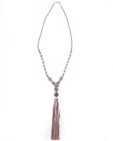 Seville Metallic Tassel Necklace
