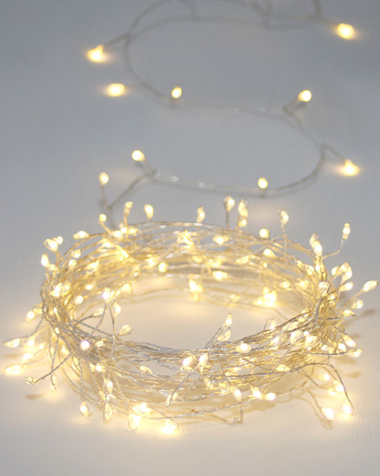 Cluster Silver Fairy Lights (mains) 7.5m