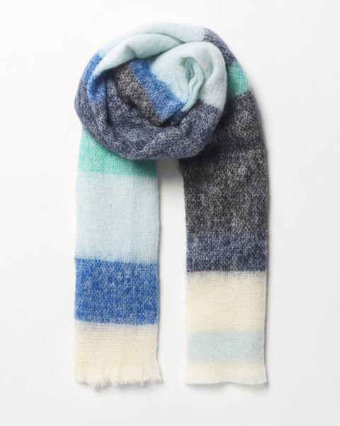 Stripe Ingris Scarf Blue
