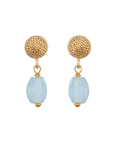 Talia Stud w/ Aquamarine Earrings