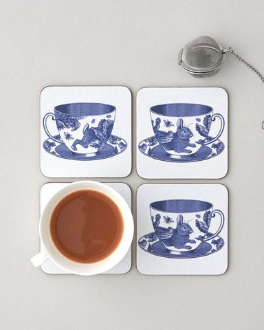 Coaster Set of 4 - Teacup