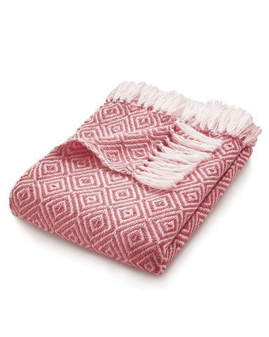 Woven Diamond Throw Coral Pink - shopatstocks