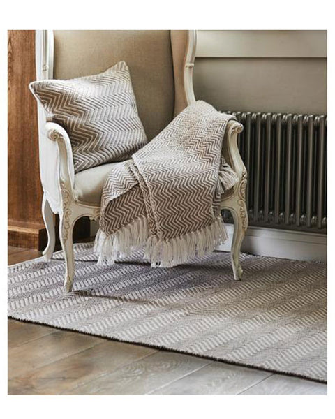 Woven Diamond Throw Natural