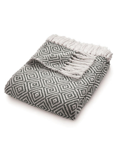 Woven Diamond Throw Warm Grey - shopatstocks