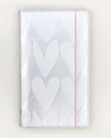 Silver Hearts Travel Wallet