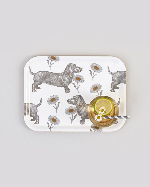 Dog & Daisy Small Rect Birch Tray