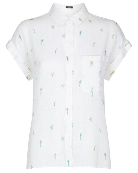 Whitney Shirt - Watercolor Cactus
