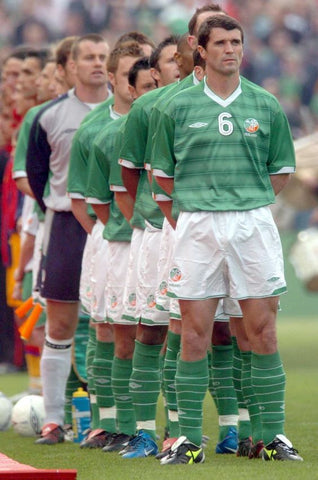 Roy Keane leading Ireland before an international friendly