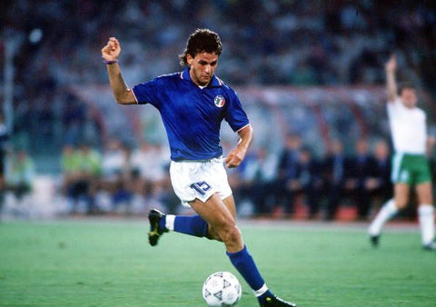 Roberto Baggio on the ball.