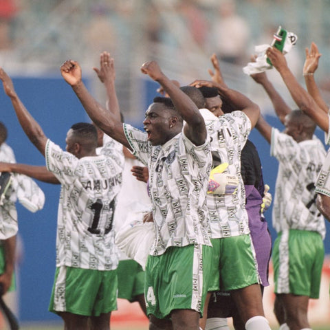The Nigerian team thanks to their dedicated fans.