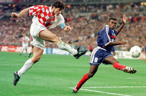 Davor Šuker unleashes a strike against France.
