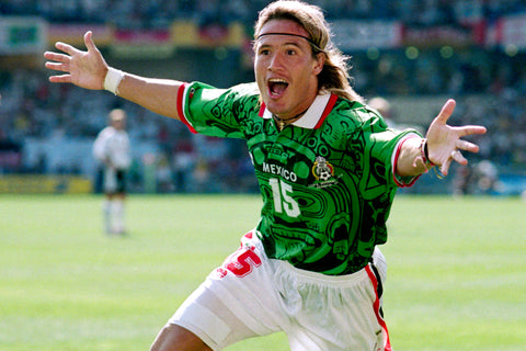 Luis Hernández overjoyed after scoring.