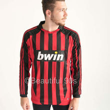 Load image into Gallery viewer, 2007-2008 Long AC Milan home retro replica football shirt