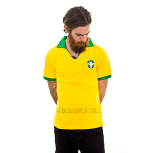 1957 Brazil Pele home replica retro football shirt