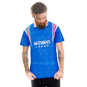 1996-1997 Rangers McEwan's home replica retro football shirt