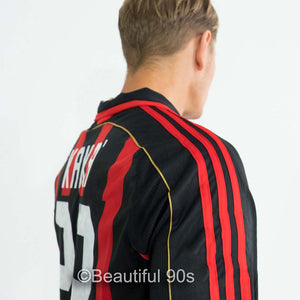 2006-2007 Long AC Milan home retro replica football shirt