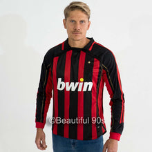 Load image into Gallery viewer, 2006-2007 Long AC Milan home retro replica football shirt