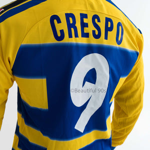 1999-2000 Parma Crespo Veron home long sleeve replica retro football shirt