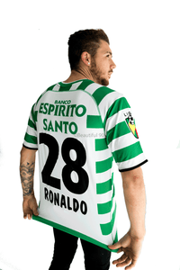 2002-2003 Lisbon Ronaldo replica retro football shirt