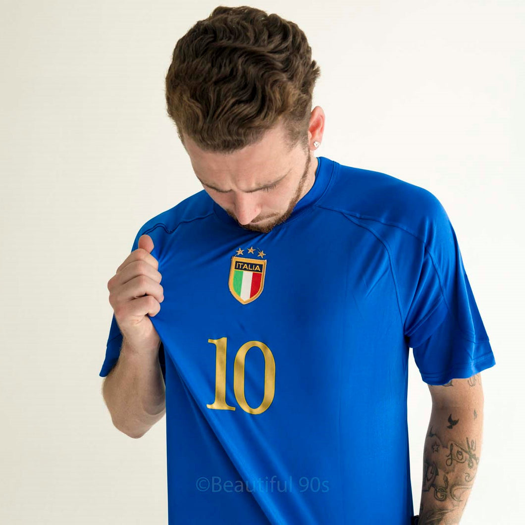 2004 Italy home Euros replica retro football shirt