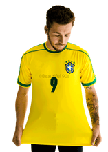 Load image into Gallery viewer, 1998 Brazil home yellow retro replica football shirt